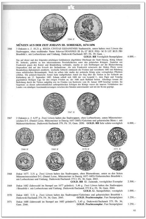 Strona 93 katalogu 76 aukcji Kuenker