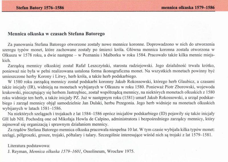 Charakterystyka mennic w Katalogu Trojaków Polskich Tadeusza Igera