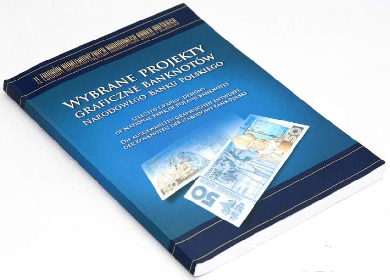 Okładka albumu Wybrane Projekty Graficzne Banknotów NBP