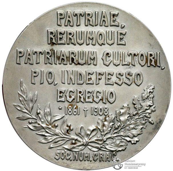 Rewers medalu Andrzej Potocki 1908