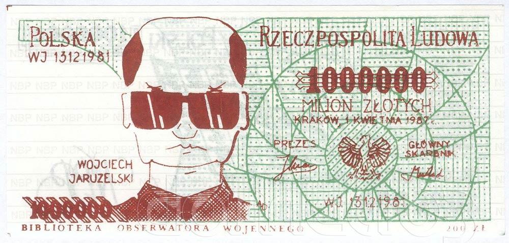 Awers milion złotych z Wojciechem Jaruzelskim