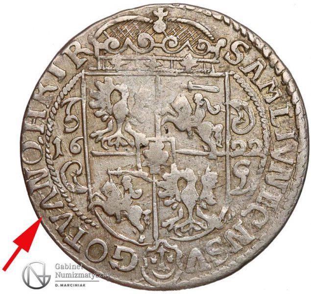 Ort Bydgoszcz 1622 z błędem litera A z odwróconego V w VAN