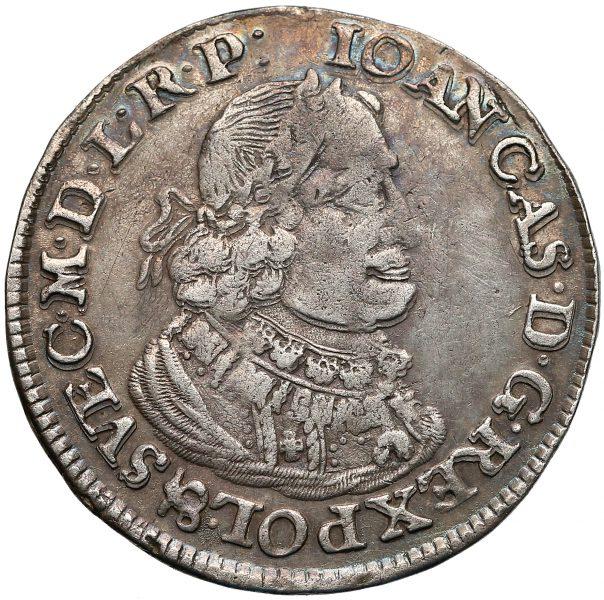 Awers Ort Bydgoszcz 1651 z poznańskiej mennicy
