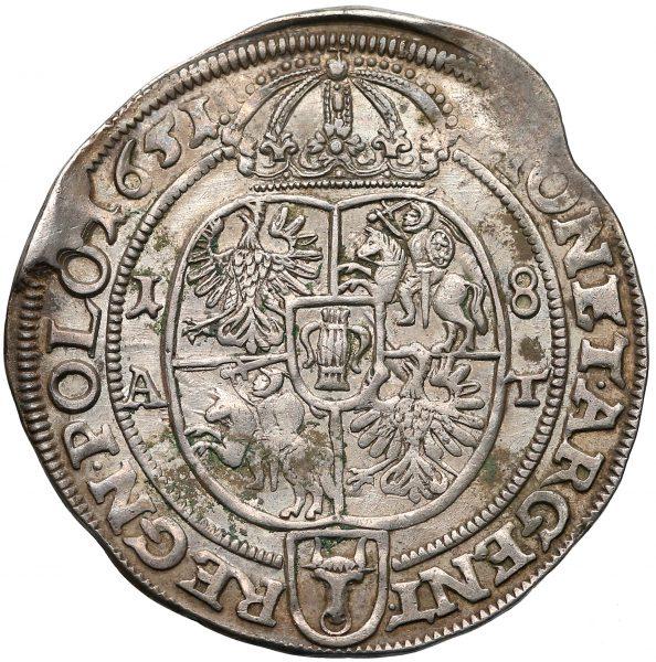 Rewers Ort Poznań 1651 odmiana bez POSNAN w legendzie