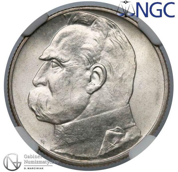 Oryginał 2 złote 1936 Piłsudski - rewers