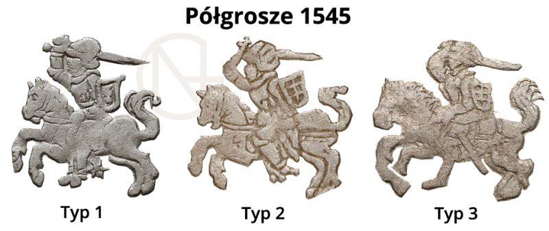 Pogonie na półgroszach litewskich 1545