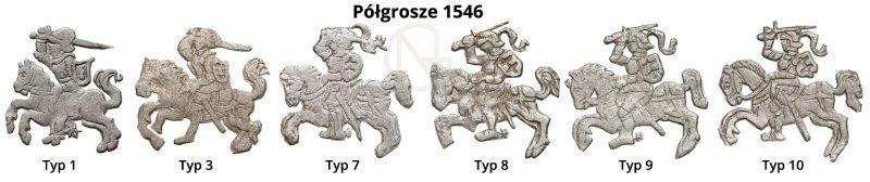 Pogonie na półgroszach litewskich 1546