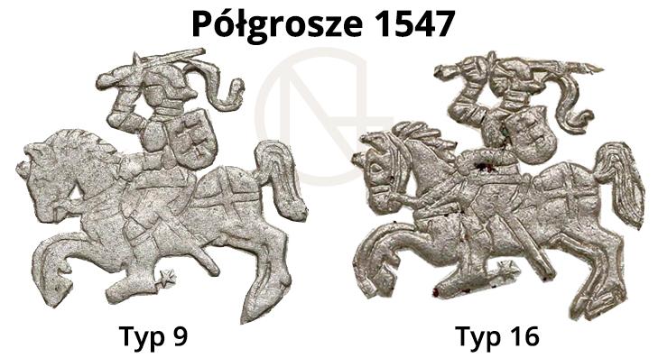 Pogonie na półgroszach litewskich 1547