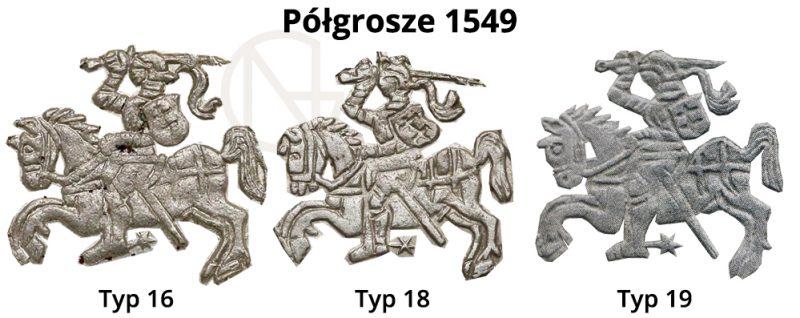 Pogonie na półgroszach litewskich 1549