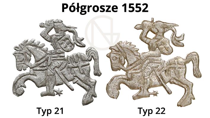 Pogonie na półgroszach litewskich 1552