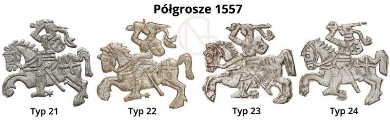 Pogonie na półgroszach litewskich 1557