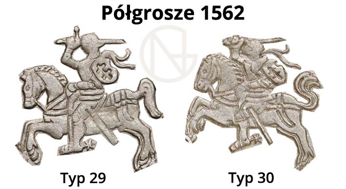 Pogonie na półgroszach litewskich 1562