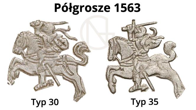 Pogonie na półgroszach litewskich 1563