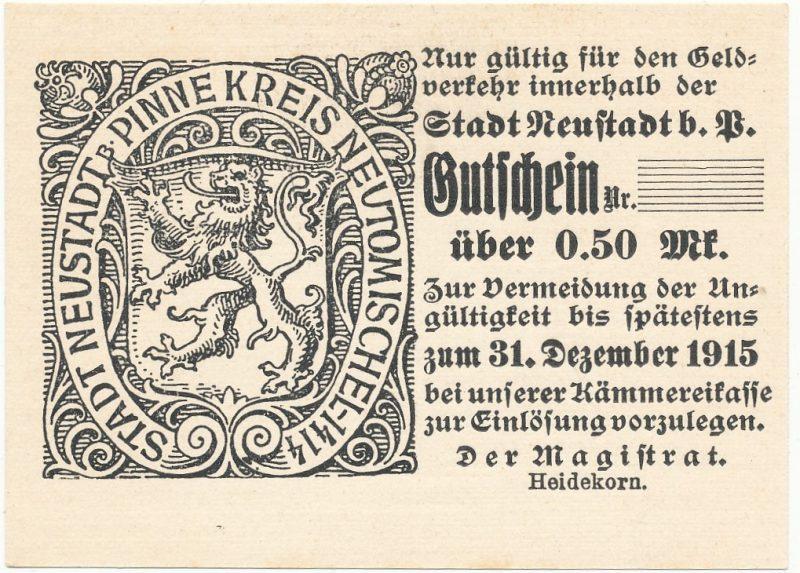 Notgeld pół marki 1915 Lwówek Wielkopolski
