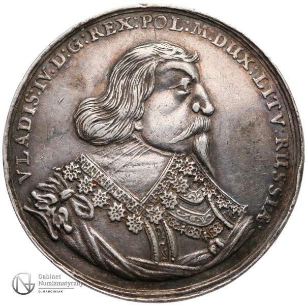Awers Półtalara medalowego 1635-36 Władysława IV Wazy