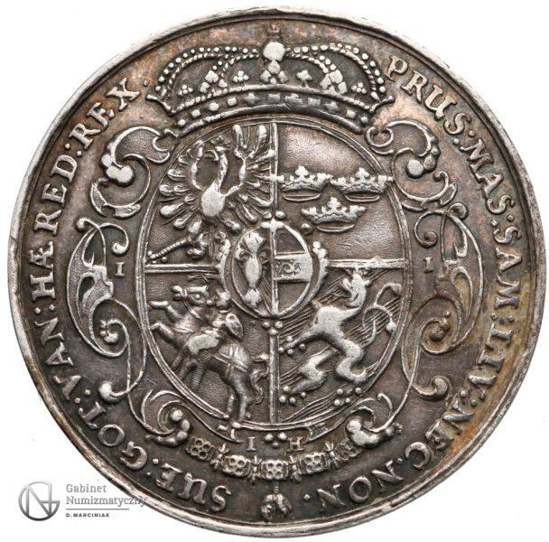 Rewers Półtalara medalowego 1635-36 Władysława IV Wazy