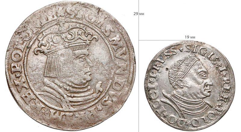 Porównanie trojaków krakowskiego 1528 i toruńskiego 1530