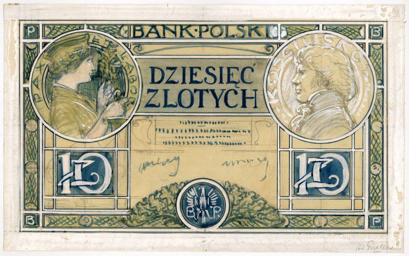 Awers projektu 10 złotych 1919 strona 1