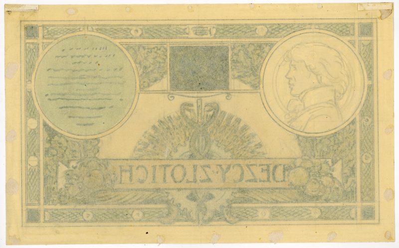 Rewers projektu 10 złotych 1919 strona 2