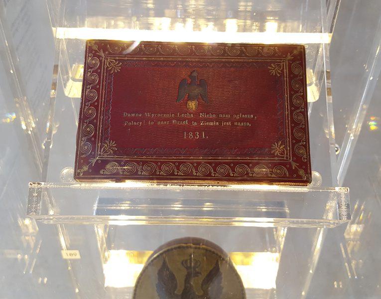 Pudełko pamiątka z Powstania Listopadowego