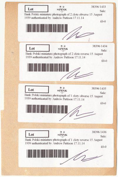 Rewers fotoprojektu banknotu 1 złoty 1939 i 2 złote 1939