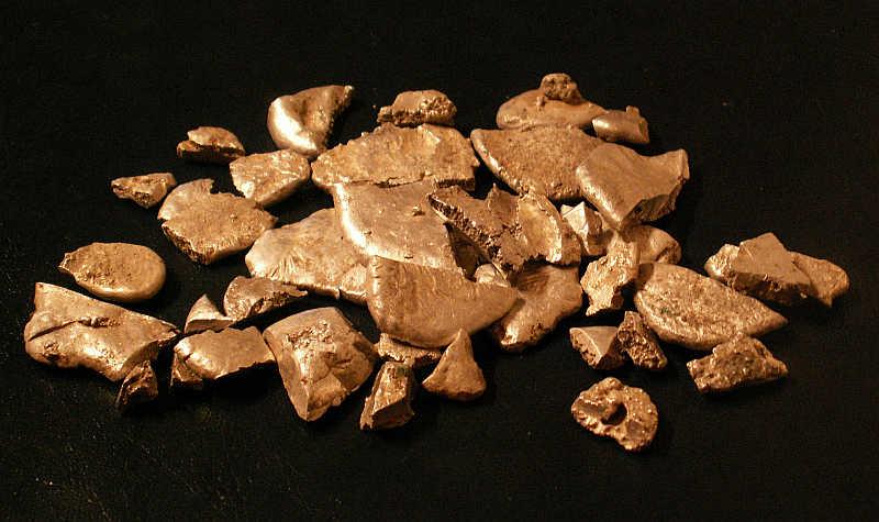 Skarb z Kalisza placki srebra
