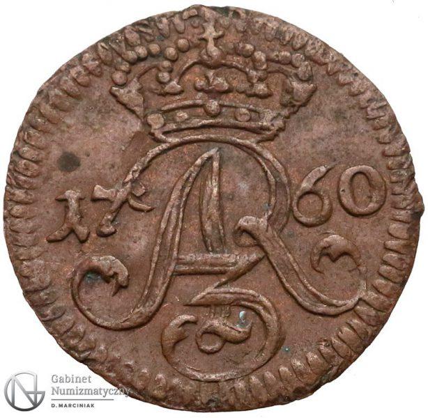 Awers Szeląga Elbląg 1760 Augusta III