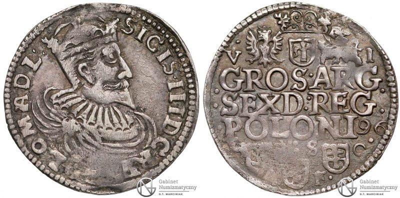 Szóstak Bydgoszcz 1596 pierwszy z mennicy bydgoskiej