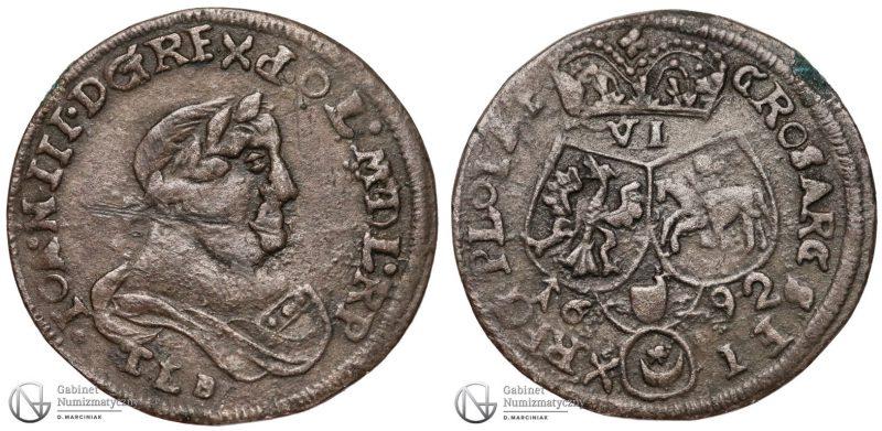 Szóstak Bydgoszcz 1692 fałszerstwo z epoki