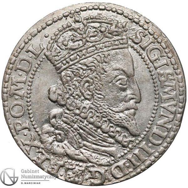 Awers Szóstak Malbork 1599 z dużą głową króla