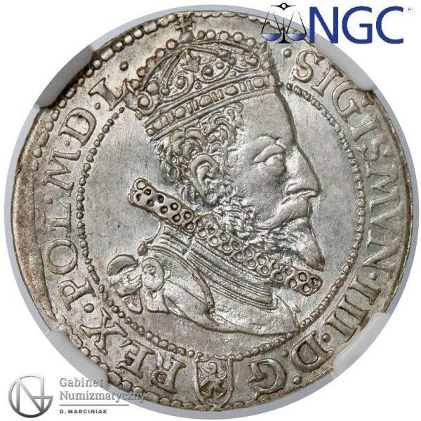 Awers Szóstak Malbork 1599 z małą głową króla