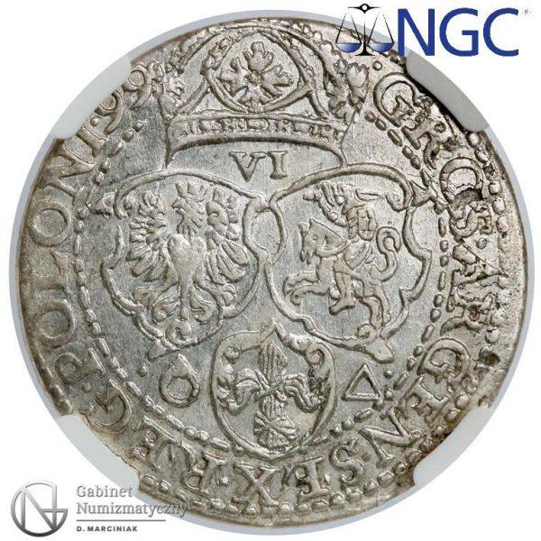 Rewers Szóstak Malbork 1599 z małą głową króla