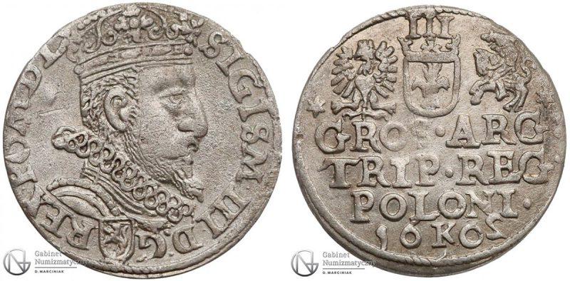 Trojak Kraków 1602 z odwróconą 2
