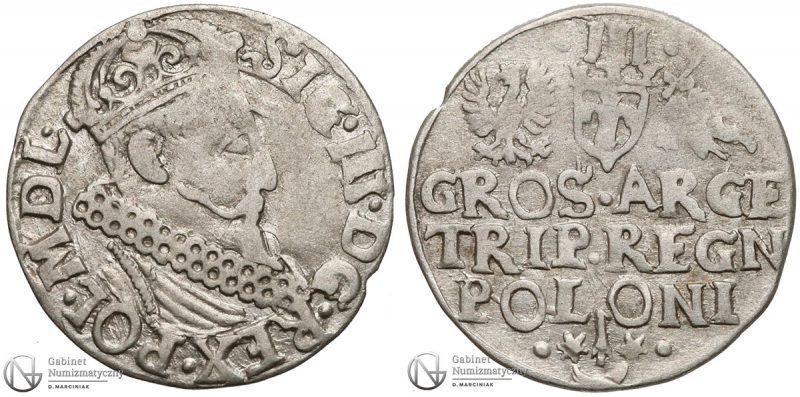 Trojak Kraków bez daty Zygmunt III Waza