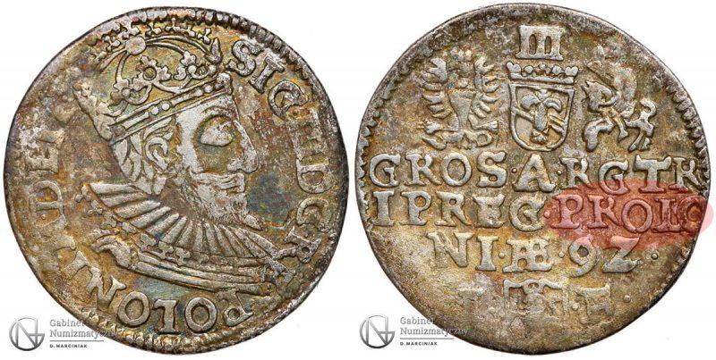 Trojak Olkusz 1592 PROLONIAE
