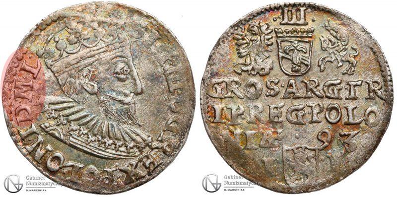 Trojak Olkusz 1593 POLONI D M L