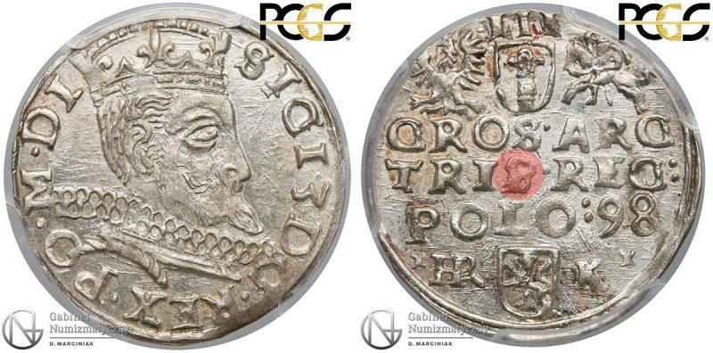 Trojak Olkusz 1598 z przebitkąS na P w TRIP