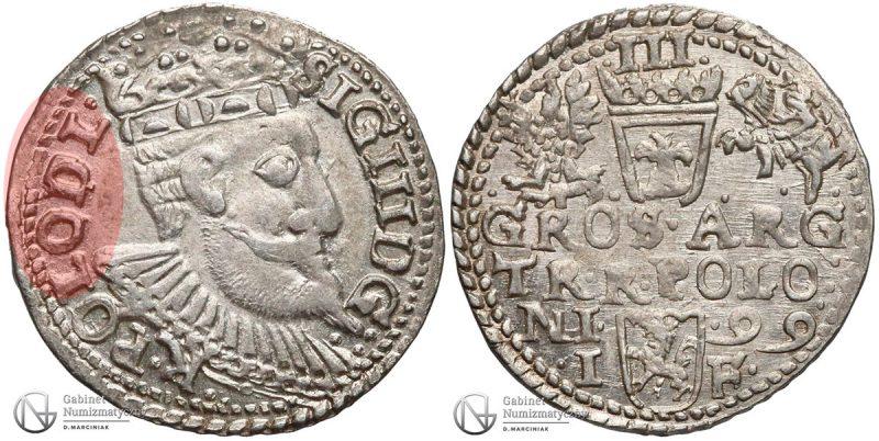 Trojak Olkusz 1599 Zygmunt III Waza POLO DL bez M