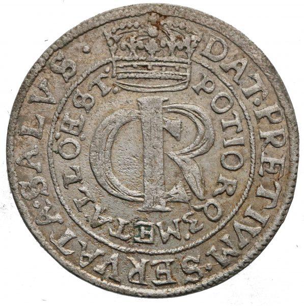 Awers Tymf 1663 z mennicy lwowskiej