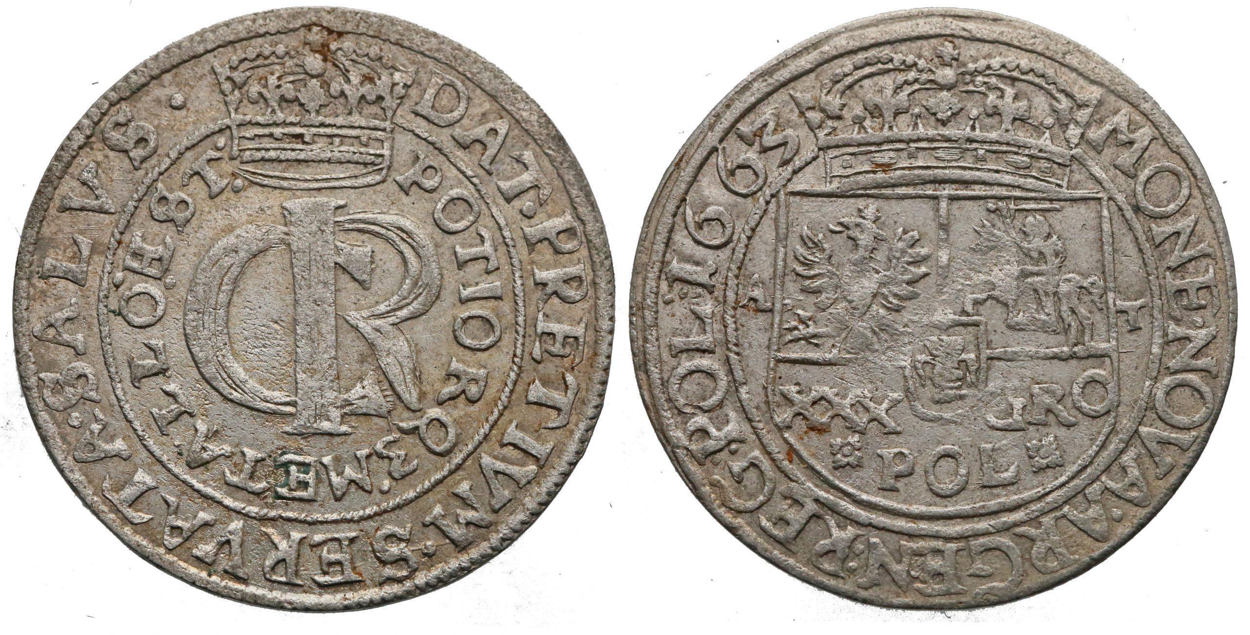 Tymf 1663 z mennicy lwowskiej