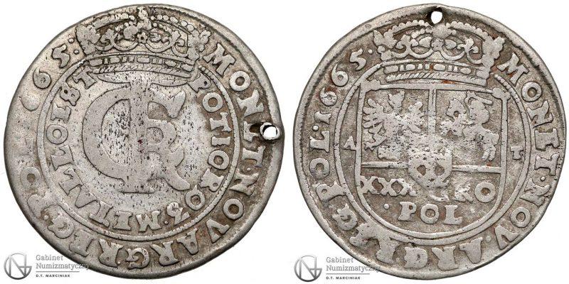 Tymf 1665 z datą na awersie i rewersie