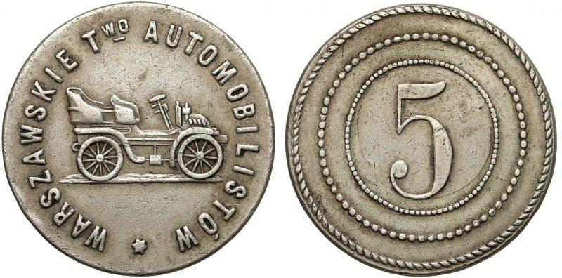 Żeton Warszawskiego Towarzystwa Automobilistów