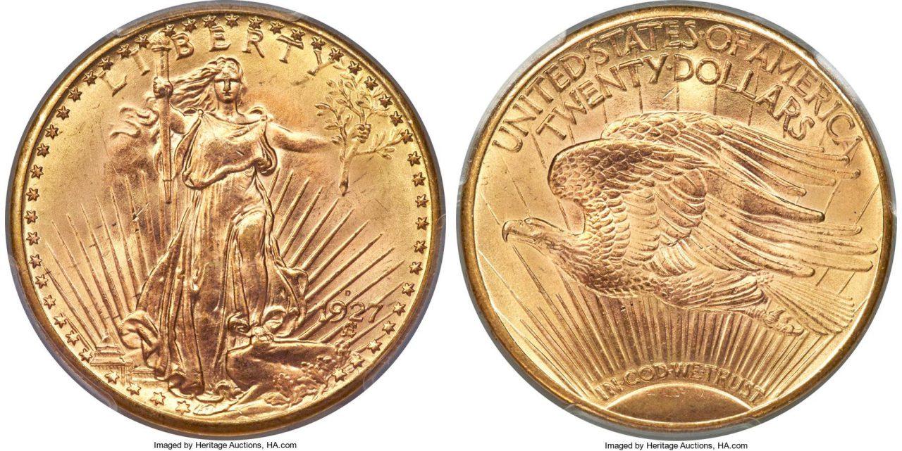 20 dolarów 1927-D sprzedane za 2.16 mln USD